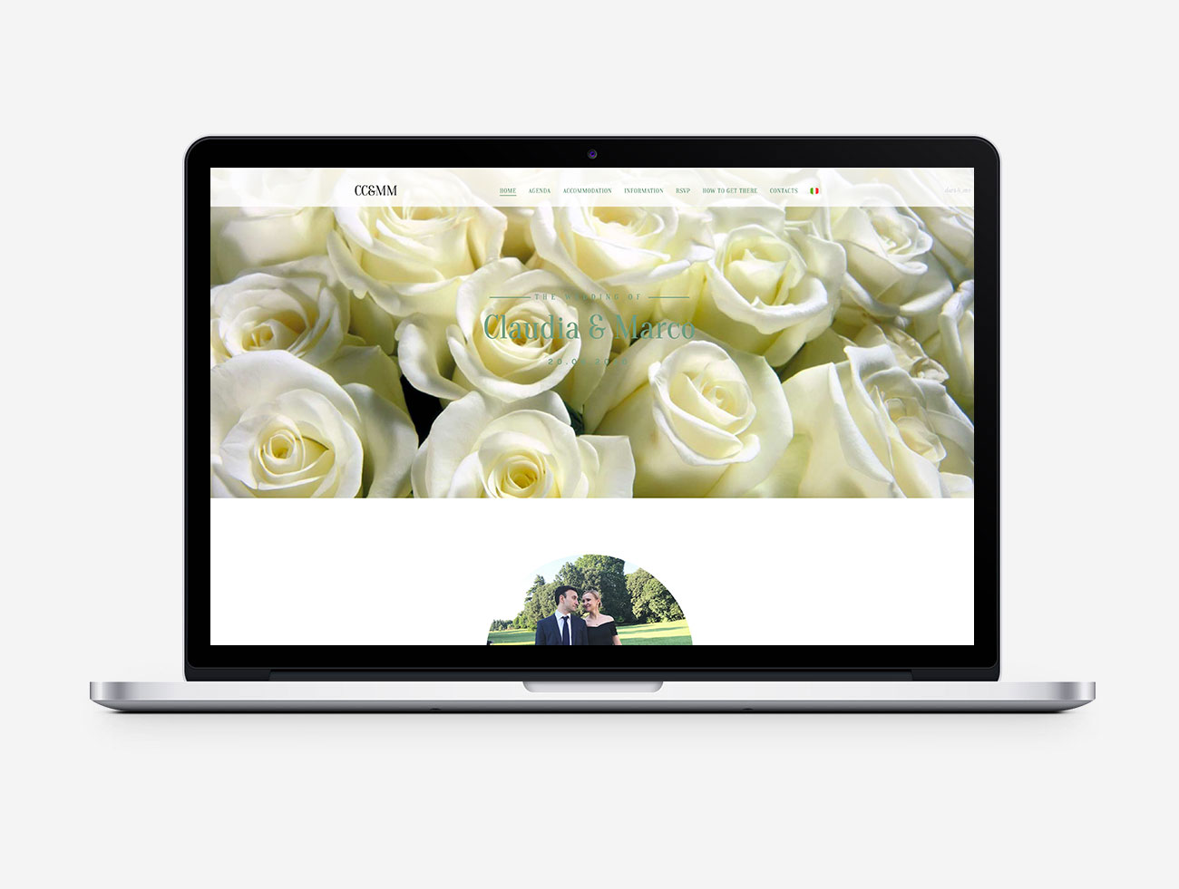 Claudia e Marco – Multilingual Wedding Website
