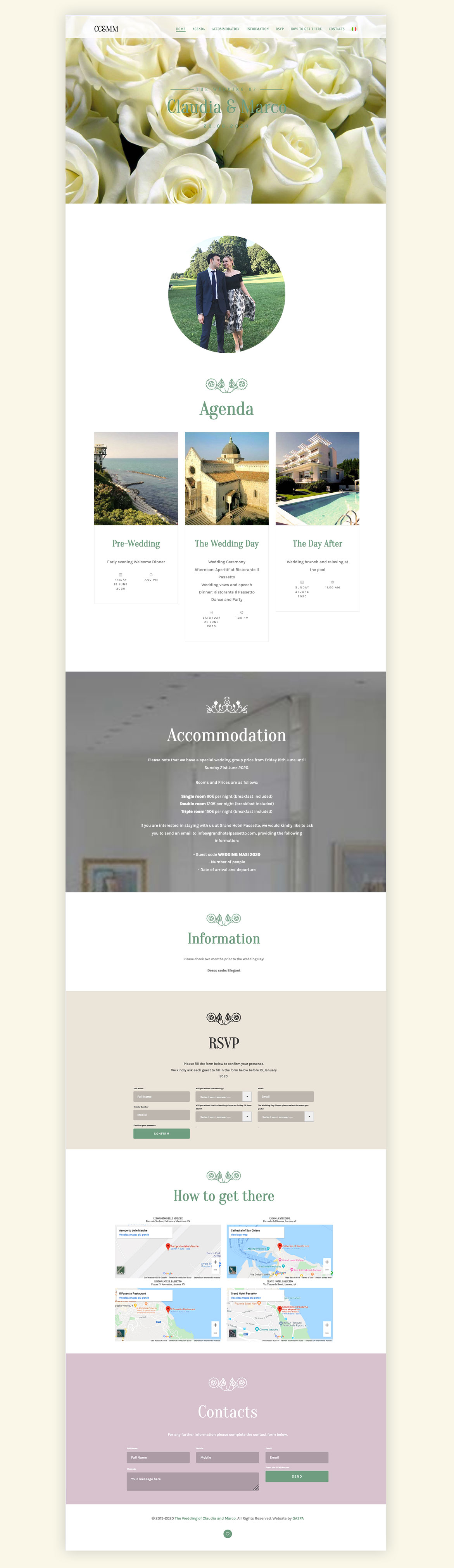 Claudia e Marco – Multilingual Wedding Website