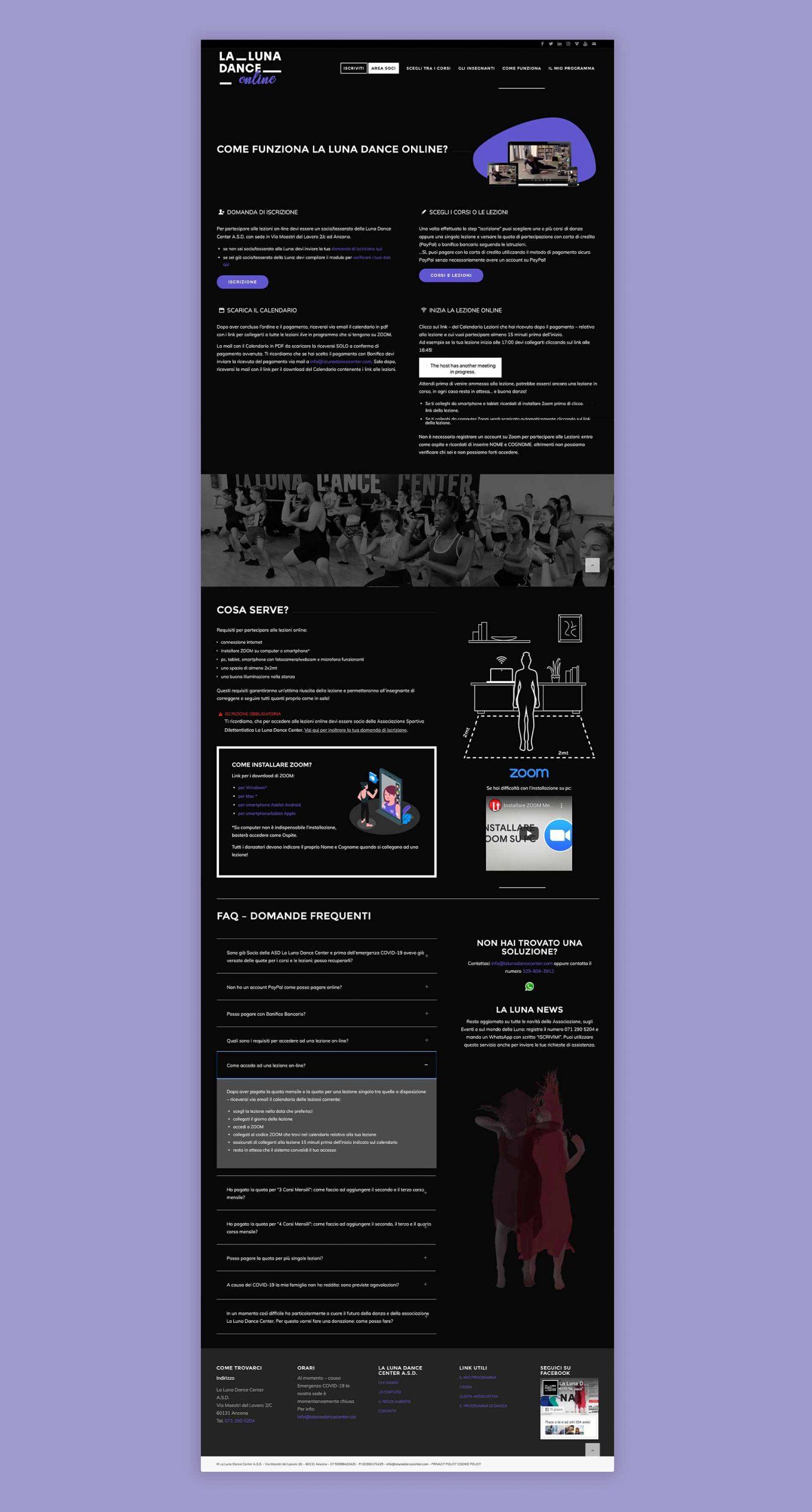 La Luna Dance Online – Website